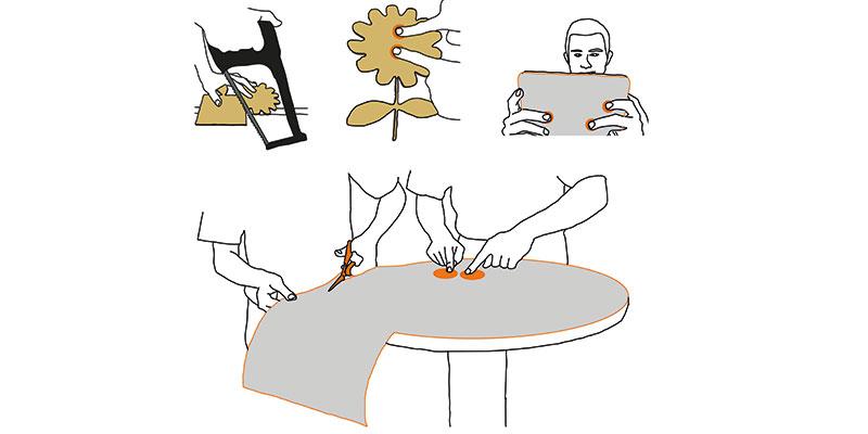Mit dem neuartigen Sensor kann man jegliche Art von Oberfläche interaktiv machen.