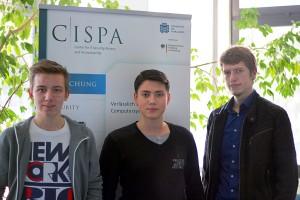 Die Saarbrücker Informatik-Studenten Kai Greshake, Eric Petryka und Jens Heyens (v.l.n.r.)