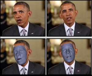 Gesichtsmodell aus einem Video von Barack Obama